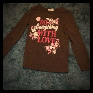 Do you everything with love green shirt for girl's